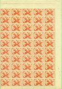 PAYS BAS N°433 LIBERATION 1945 En Feuille De 100 Ex N Xx (le Scan Ne Prend Que La Moiutié De La Feuille )tb. - Nuevos