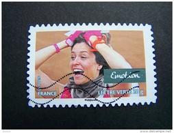 FRANCE OBLITERE 2013 N° 809 EMOTION SERIE CARNET VALEURS DE FEMMES RALLYE AICHA DES GAZELLES MAROC AUTOCOLLANT ADHESIF - France