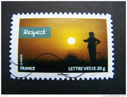 FRANCE OBLITERE 2013 N° 812 RESPECT SERIE CARNET VALEURS DE FEMMES RALLYE AICHA DES GAZELLES MAROC AUTOCOLLANT ADHESIF - France