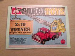 GRUE MACK-PRIESTMAN Pour Collectionneurs ... PUBLICITE POUR CORGI TOYS Page De Revue Des Années 70 Plastifiée Par Mes So - Corgi Toys
