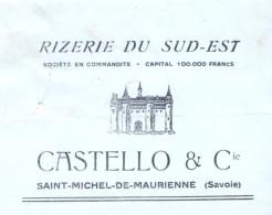 CASTELLO   Rizzerie Du Sud Est    SAINT MICHEL De MAURIENNE   (Savoie)   Fiscaux - Lettres De Change