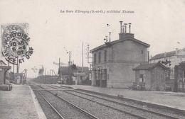 REPRODUCTION . La Gare D'ERAGNY (95) Et L'Hôtel Thirion - Gares - Sans Trains