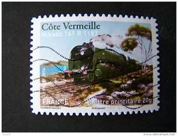 OBLITERE ANNEE 2014 N°1003 COTE VERMEILLE MIKADO 141 R 1187 DU CARNET LA GRANDE EPOPEE DU VOYAGE EN TRAIN - France