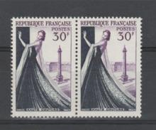"""FRANCE / 1953 / Y&T N° 941 ** : """"Métiers D'art"""" (Haute Couture) X 2 En Paire - Gomme D'origine Intacte - France"""