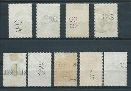 Type Eeuwfeest : Kleine Verzameling Perfins - 1909-34