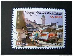 OBLITERE ANNEE 2014 N°1009 LIMOGES GARE DES BENEDICTINS CC6572 DU CARNET LA GRANDE EPOPEE DU VOYAGE EN TRAIN - France