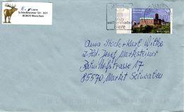 Brief Von Briefzentrum 80 Mit 70 Cent Wartburg Und Werbestempel München Weltberühmte Biere 2017 - BRD