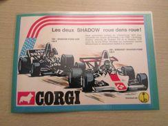FORMULE 1 SHADOW-FORD Pour Collectionneurs ... PUBLICITE POUR CORGI TOYS Page De Revue Des Années 70 Plastifiée Par Mes - Corgi Toys