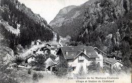 Suisse - Chemin De Fer Martigny Chamonix - Village Et Station Du Châtelard - 4P4b - VS Wallis