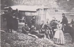 REPRODUCTION . Militaria . Convivial Party Of English & French Troops.  Camp Of The 4th Dragoon Guards . Spring 1855 - Andere Kriege