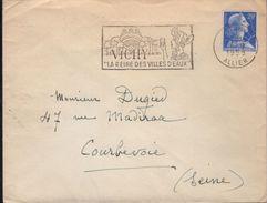 """Lettre Vichy 6-9 1958 Flamme =o """" VICHY ''la Reine Des Villes D'Eaux """" - Thermalisme"""