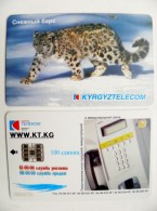 Chip Phone Card From Kyrgyzstan Animal Snow Leopard Panthera Telephone 100 Units - Kyrgyzstan