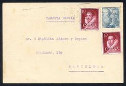 *Josep Subirà I Puig* (Barcelona 1882 - Madrid 1980). Músico. Autógrafo Sobre Tarjeta Postal 100x150 Mms. Fechada 1955. - Autógrafos