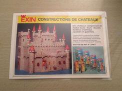 EXIN CHATEAU-FORT A CONSTRUIRE  -  Pour  Collectionneurs ... PUBLICITE  Page De Revue Des Années 70 Plastifiée Par Mes - Other Collections