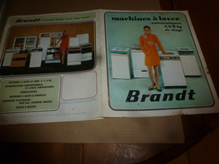 1971  Machines à Laver Automatiques Et Cuisinières BRANDT - Advertising