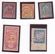 TAHITI Polynésie Française Lot Timbres Bonnes Valeurs GROUPE Dont Surchargé + Taxes Colonies Générales Cachets PAPEETE ! - Tahiti (1882-1915)