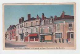 08 - GRANDPRE / UN COIN DE LA PLACE ET L'ENTREE DE LA RUE MONTFLIX - France