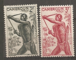 CAMEROUN - Yv. N° 285,286  *  2f,3f  Porteurs Cote 0,8 Euro  BE 2 Scans - Cameroun (1915-1959)