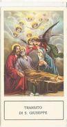 SANTINO  SERIE ED.G.MI 273 TRANSITO DI S.GIUSEPPE - Devotion Images