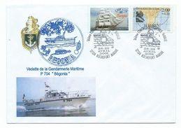 15951 - VEDETTE GENDARMERIE BEGONIA - ROCHEFORT - AVRIL 2000 - Postmark Collection (Covers)