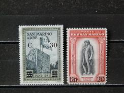 SAINT-MARIN - 1942 - N° 222/223 * (voir Détail Et Scan) - San Marino