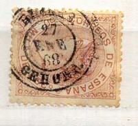 Año 1867 Edifil 96 50m Isabel II   Matasellos Blanes Gerona - 1850-68 Königreich: Isabella II.