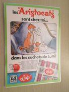 DISNEY LES ARISTOCHATS BONBONS LUTTI -  Pour  Collectionneurs ... PUBLICITE  Page De Revue Des Années 70 Plastifiée Par - Disney