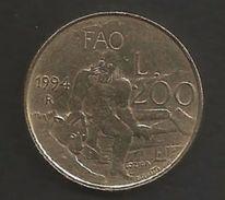 San Marino  1994 - 200 Lire   - FAO. - San Marino