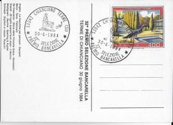 ANNULLO SPECIALE - IMOLA  - CHIANCIANO TERME - 32a SELEZIONE PREMIO BANCARELLA - 30.06.1984 - 1981-90: Storia Postale
