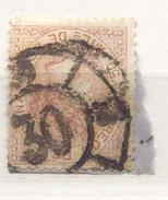 Año 1867 Edifil 96 50m Isabel II   Matasellos Rueda De Carreta 30 Jaen - 1850-68 Königreich: Isabella II.