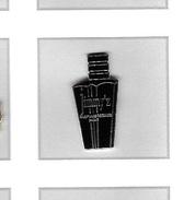 Pin's  Argenté  Noir  Parfum  JIMMY ' Z, PARFUMS  REGINE'S  PARIS - Perfume