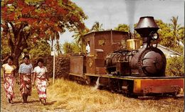 PHOTO PHOTOGRAPHIE TRAIN TRANSPORT LE TRAIN DU SUCRE ILES FIDJI OCEANIE - Fotografia