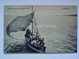 SOMALIA ITALIANA 1911 Un Sambuco Bache Vela Colonie Coloniale AOI Vecchia Cartolina - Somalia