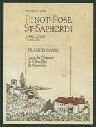Rare // Etiquette // St.Saphorin Pinot-Rosé ,Francis Cossy, St.Saphorin Vaud Suisse - Etiquettes