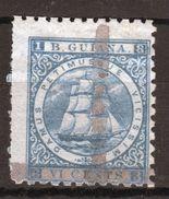 British Guiana 1 Cent On 6 Ultramarine Stamp From Queen Victoria's Reign. - Guyana Britannica (...-1966)