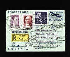 A4981) Österreich R-Aerogramm Von Obertauern 8.4.82 Nach Belg-Kongo - 1945-.... 2. Republik