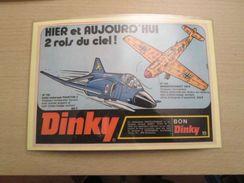 DINKY TOYS MESSERSCHMITT 109 ET PHANTOM  Pour  Collectionneurs ... PUBLICITE  Page De Revue Des Années 70 Plastifiée Par - Airplanes & Helicopters