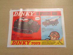 DINKY TOYS LANCE-MISSILES SHADO ET BERLIET  Pour  Collectionneurs ... PUBLICITE  Page De Revue Des Années 70 Plastifiée - Tanks
