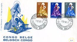 BELGIAN CONGO 1959 FDC. - Belgisch-Kongo