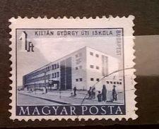 FRANCOBOLLI STAMPS UNGHERIA HUNGARY 1951 SERIE COSTRUZIONI PIANO QUINQUENNALE BUDAPEST  MAGYAR POSTA - Usati