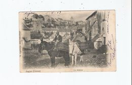 ANGLES (VIENNE) UN MULETIER (BEAU PLAN) 1903 - Autres Communes