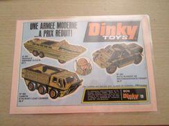 DINKY TOYS BLINDES DUKW FERRET ET STALWART  Pour  Collectionneurs ... PUBLICITE  Page De Revue Des Années 70 Plastifiée - Tanks