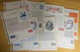 Documents Philatéliques Officiels Poste Année Complète 1976 -  47 Documents Dont Deux Double-page (USA Et Carzou) - Documenti Della Posta