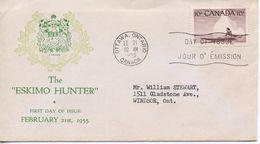 CANADA  - 1955 National Wild Life Week  FDC945 - Primi Giorni (FDC)