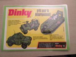 """DINKY TOYS : HOVERCRAFT , JEEP COMMANDO ET """"AUTO CANON""""   Pour  Collectionneurs ... PUBLICITE  Page De Revue Des Années - Tanks"""