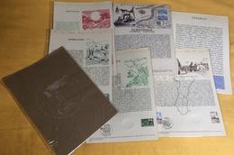 Documents Philatéliques Officiels Poste Année Complète 1977 -  48 Documents Dont 4 Double-page + Pages Voeux + Combet - Documenti Della Posta