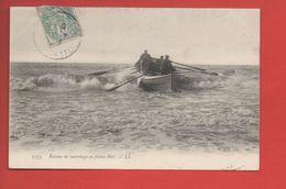 2208 - Bateau De Sauvetage En Pleine Mer - Edit LL -  (recto-verso) - Mestieri