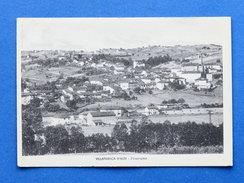 Cartolina Villafranca D'Asti - Panorama - 1942 - Asti