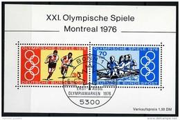 BRD - Michel Block 12 = 888 / 889 - OO Gestempelt (A) - Olympiade Montreal - [7] West-Duitsland