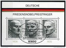 BRD - Michel Block 11 = 871 / 873 - OO Gestempelt (A) - Friedensnobelpreisträger - [7] West-Duitsland